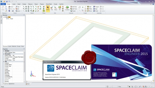 SPACECLAIM 2015.0