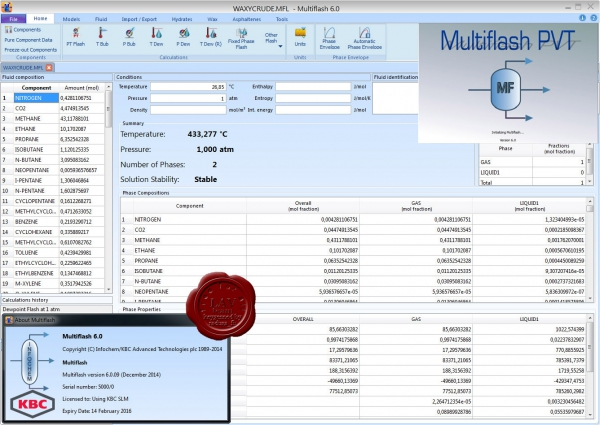 KBC Infochem Multiflash v6.0.09