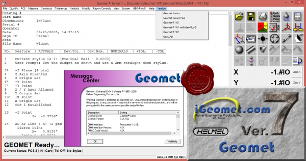 Helmel Engineering Geomet v7.01.182