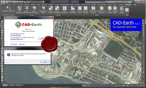 Arqcom CAD-Earth v4.1.7
