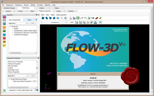 Flow Science Flow-3D v11.0.4