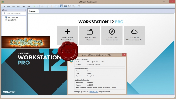 EMC VMware Workstation Pro v12.0.0.2985596