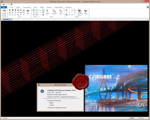 CSI Bridge 2015 Advanced v18.0.1.1206