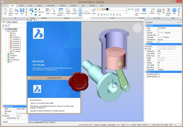 Bricsys Bricscad Platinum v16.1.05.40889 english