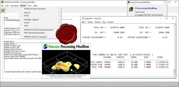 Simcore Processing Modflow v8.0.44
