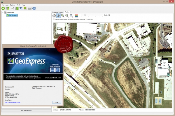 LizardTech GeoExpress Unlimited v9.5.2.4437