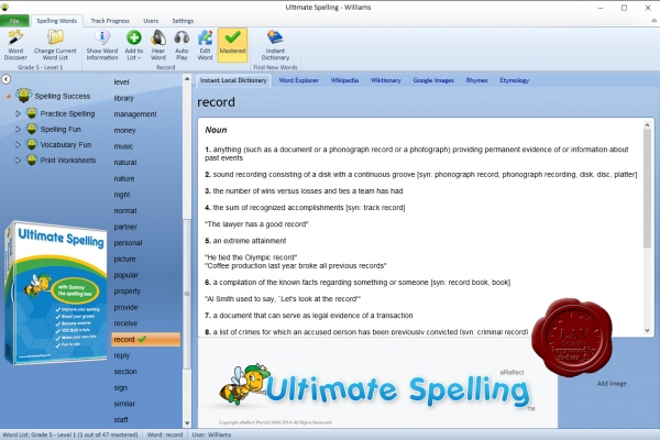 eReflect Ultimate Spelling 2014