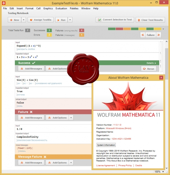 Wolfram Research Mathematica v11.0.1