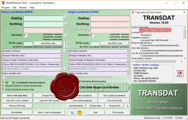 Killetsoft TRANSDAT Professional v19.60