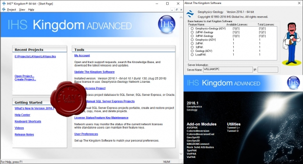 IHS Kingdom Suite Advanced 2016.1 v10.1 build 130