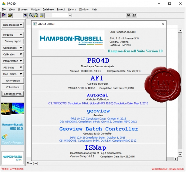 CGG Hampson-Russell Suite v10.0.2