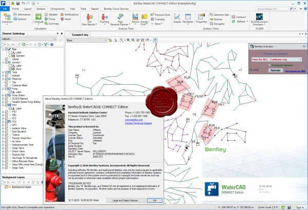 Bentley WaterCAD Connect Edition 10.00.00.50