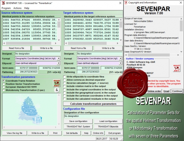 Killetsoft SEVENPAR v7.00
