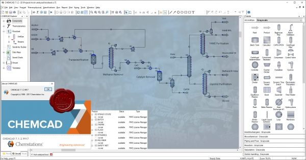 Chemstations CHEMCAD Suite v7.1.2.9917