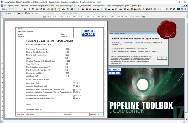 TTI Pipeline Toolbox 2016 v17.4.0 - Edition for Liquid Service
