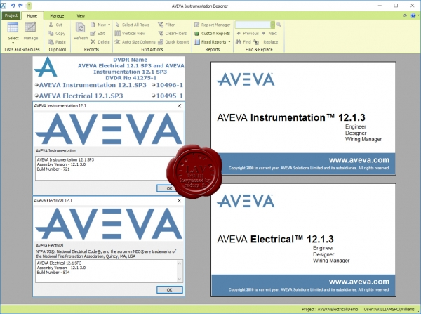 AVEVA Instrumentation & Electrical v12.1 SP3