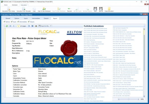 Kelton Engineering FLOCALC.net v1.7.2