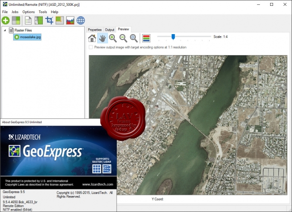 LizardTech GeoExpress Unlimited v9.5.4.4650