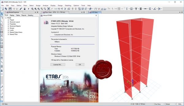 CSI ETABS 2016 v16.2.0 build 1645