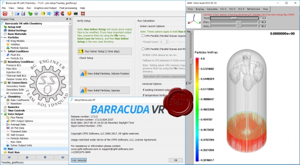 CPFD Barracuda Virtual Reactor v17.2.0