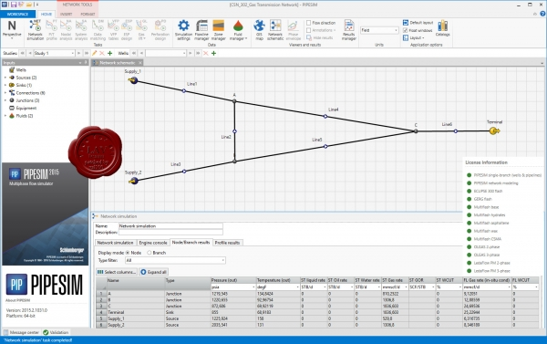 Schlumberger PIPESIM 2015.2 build 1031.0
