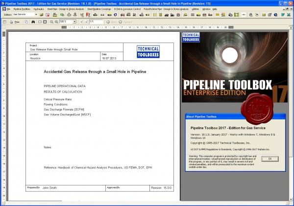TTI Pipeline Toolbox 2017 v18.1.0 Gas Edition