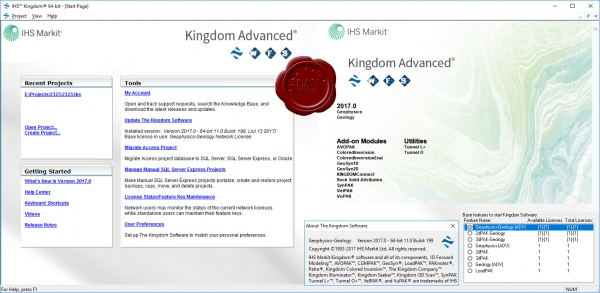 IHS Markit Kingdom Advanced 2017.0 v11.0 build 199