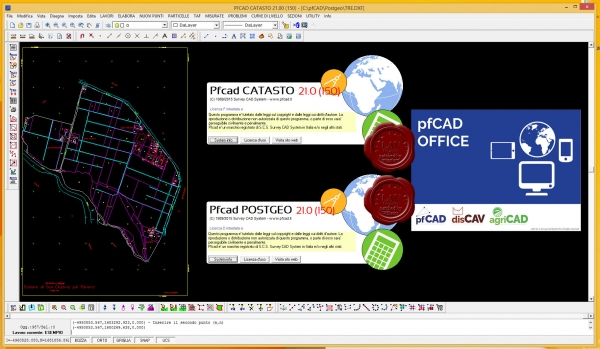 Survey CAD System pfCAD Catasto v21.0.150