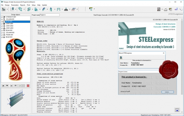 RUNET software STEELexpress version 03.07/2018