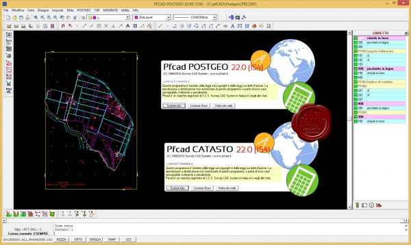 Survey CAD System pfCAD Catasto v22.0.154