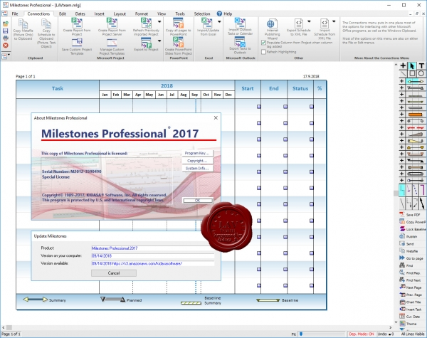 KIDASA Software Milestones Professional 2017 rev 09.14.2018