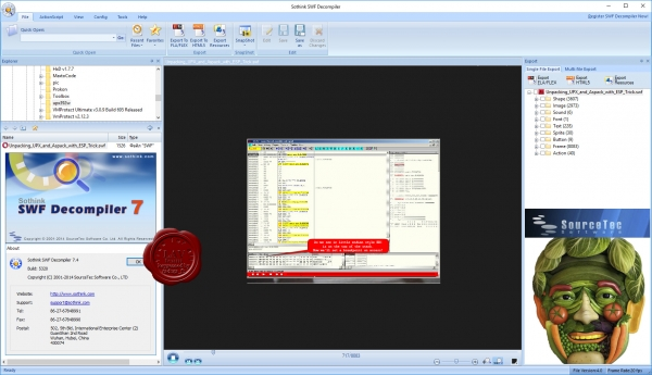 SourceTec Sothink SWF Decompiler v7.4