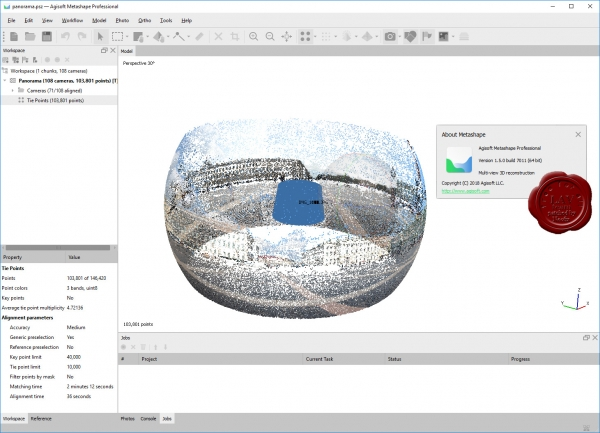 Agisoft Metashape Pro v1.5.0 build 7011
