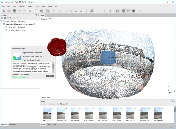 Agisoft Metashape Pro v1.5.0 build 7125