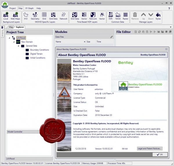 Bentley OpenFlows FLOOD 10.00.02.01