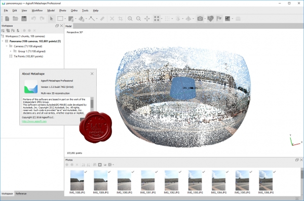 Agisoft Metashape Pro v1.5.0 build 7492