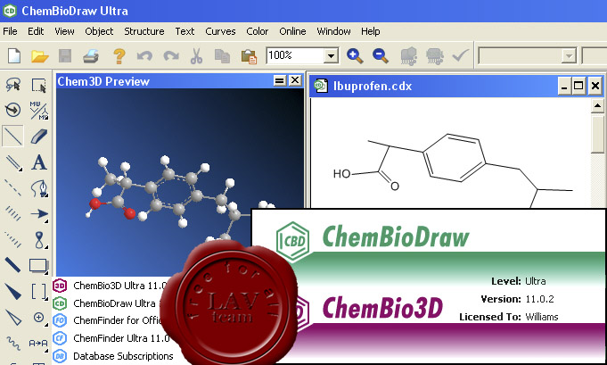 CambridgeSoft ChemBioOffice Ultra 2008 v11.0.2