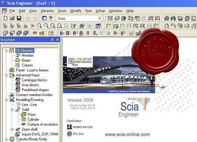 Nemetschek SCIA Engineer 2008 v8.0.19