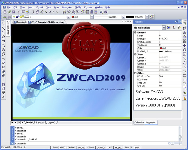 ZwCAD 2009 Professional v2009.01.23.9080