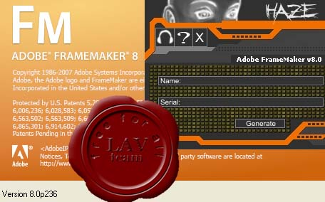 Adobe FrameMaker v8.0.236