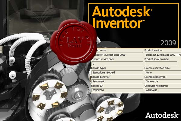 Autodesk Inventor Suite 2009 build 236a ISO (4 DVD) x86+x64