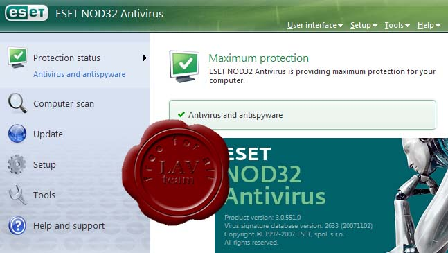 ESET NOD32 Antivirus v3.0.551.0 FINAL