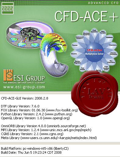 ESI Advanced CFD-ACE+ v2008.2.8