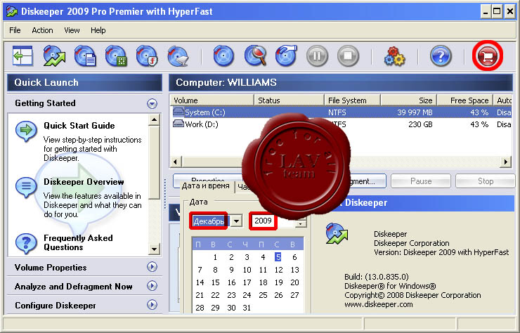 Executive Diskeeper Pro Premier 2009 v13.0.835 x86+x64