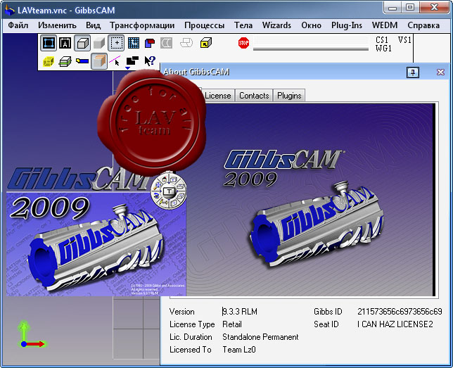GibbsCAM 2009 v9.3.3 Multilingual + Post Processors