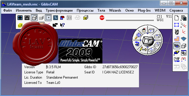 GibbsCAM 2009 v9.3.5 Multilingual + Post Processors