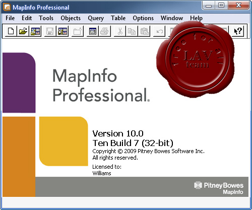 Pitney Bowes MapInfo Professional v10.0 Ten build 7 x86
