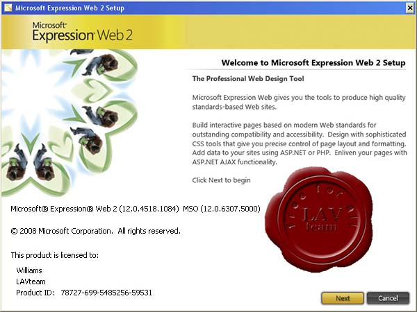 Microsoft Expression 2 Web Edition v12.0.4518.1084 ISO