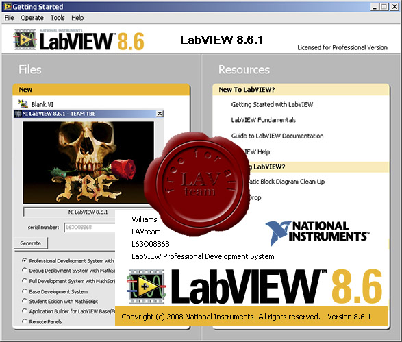 National Instruments LabVIEW v8.6.1