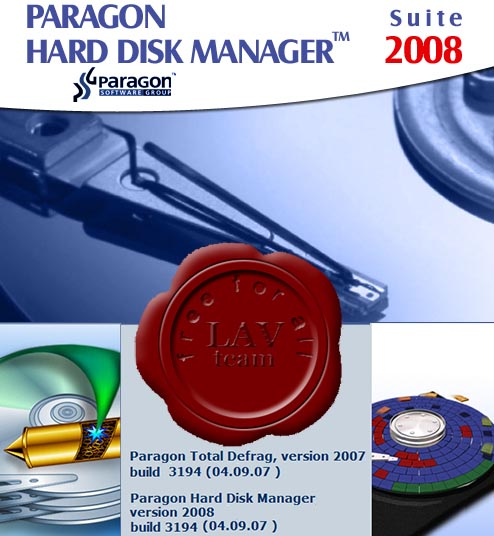 Paragon Hard Disk Manager Pro 2008 Suite + Recovery CD Image